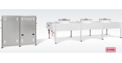 Чиллеры воздух/вода c выносным конденсатором серии А мощностью 119-235 кВт